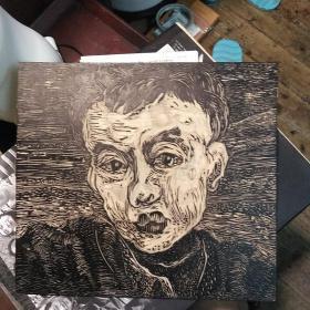 人物肖像 老版画木刻原作