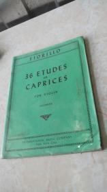 FIORILLO 36 ETUDES OR CAPRICES FOR VIOLIN