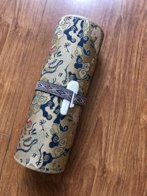 黄庭坚 青衣江题名卷。纸本大小19.94*784.07厘米。丝绸覆背高档装裱。装裱完成品长度约10米左右