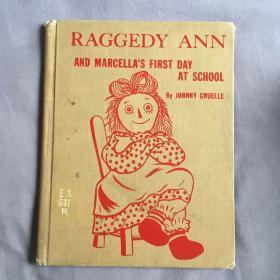 50年代英文原版手绘插画Raggedy Ann 古董娃娃