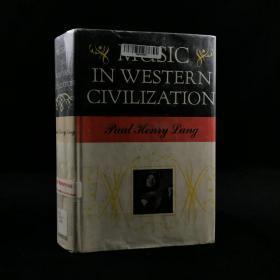 1941年诺顿《西方文明中的音乐》精装配插图  Music in Western Civilization by Paul Henry Lang