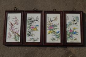 景德镇陶瓷大师手绘瓷板画171120016人物山水花鸟装饰画客厅摆件