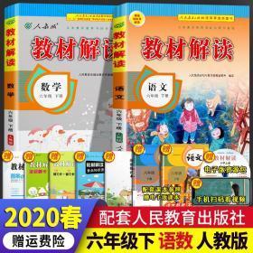正版2020教材解读六年级下册语文数学人教版RJ 全套2本 小学6年级下语数课本同步配套讲解 小学教材全解全析学生教学参考辅导用书