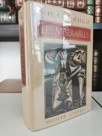 Les Miserables 《悲惨世界》victor hugo雨果名著  modern library 硬精装本, 品好带书衣