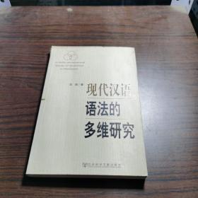 现代汉语语法的多维研究