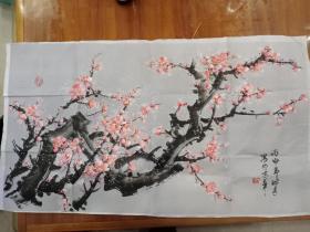 王淑秀梅花,北京著名画家师从梁树年