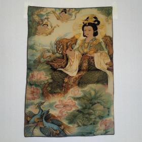 西王母刺绣织锦绣丝织画