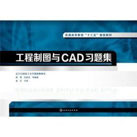 工程制图与CAD习题集 正版  辽宁石油化工大学制图教研室,柳青,何延东  9787122301482