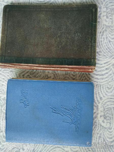 七十年代前后老筆記本兩本(內容佳)