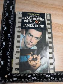 007系列 邦德 FROM RUSSIA WITH LOVE 《007之俄罗斯之恋》 JAMES BOND   封面人物插图