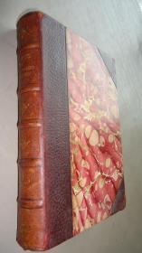 1885年 Essays by Ralph Waldo Emerson – 《爱默生随笔集》 3/4摩洛哥羊皮豪华古董书 配补插图 品佳