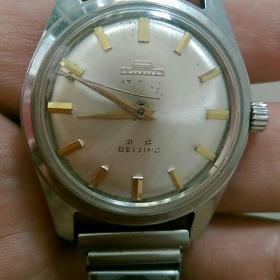 北京手表,走时〈秒针脱落盘中〉