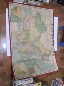 中华人民共和国新地图  上海大陆兴地社印行  解放初期1951地图   品相如图  正版现货    1-1号柜