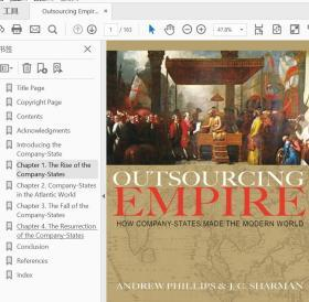 Outsourcing Empire: How Company-States Made the Modern World  9780691203515东印度商业帝国对外扩张的商业帝国公子沈推荐书目