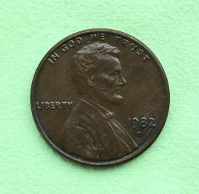 美国硬币:1982年1美分