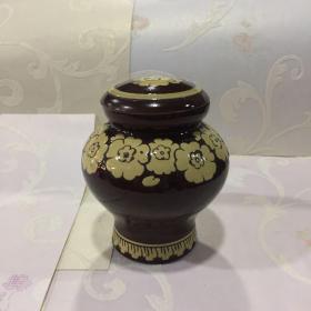 手绘陶瓷茶叶罐【长6.6CM 宽6.6CM 高13CM】【品相自鉴】