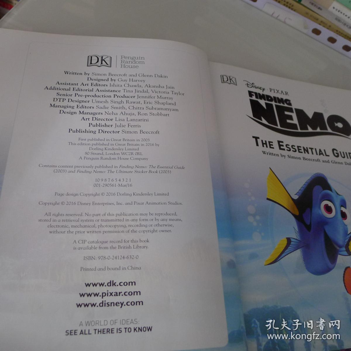 Disney Pixar Finding Nemo The Essential Guide,2
