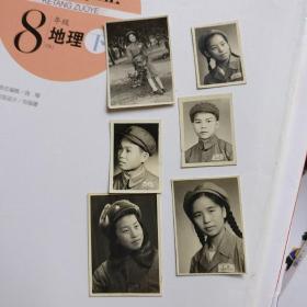 1953年黑白相片【戴军帽照片6张合售】长5.5CM*宽3.8CM、品相以图片为准