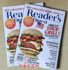 美国版 READER'S DIGEST 读者文摘2020年7-8月合刊 英文生活类杂志