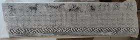 汉代洛阳画像艺术之杰作 骑射狩猎,三足乌 拓片可交流 一张200 长136+35cm,图案尺寸