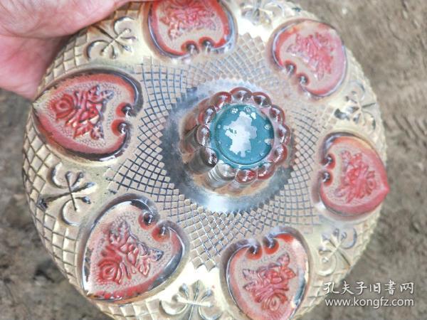 水晶包舍利子漂亮帶蓋碗