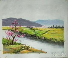 张晨燕油画