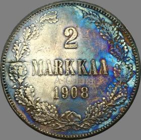 芬兰 1908银元