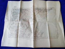 北京地图       日本参谋本部编       1910年出版    46:58cm   一百万比一