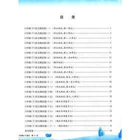 孟建平系列丛书·小学单元测试:语文(6下册·R)
