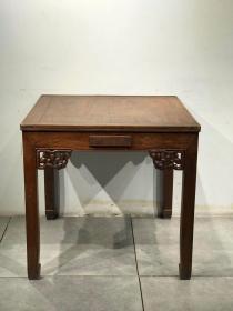 民国时期花梨木麻将桌,清水皮壳原汁原味,褒浆一流,尺寸:88/88/83