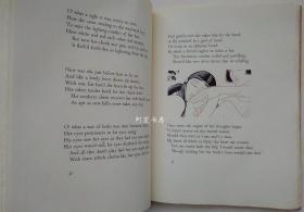 《维纳斯和阿都尼》1931年肯特签名本莎士比亚长诗集插图本精品限量编号毛边本