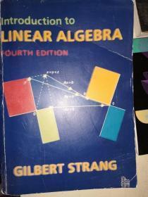 introduction to LINEAR ALGERBAR,GILBERT STRANG
