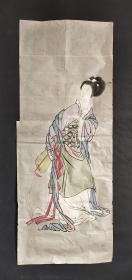 D722:回流手绘美女图软片(日本回流.回流老画.老字画)