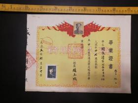 1955年毕业证书,有毛主席像