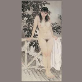 何家英 幽谷 中国画名画真迹高清微喷复制装饰临摹学习