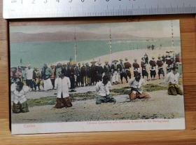 【收藏级】清末广东   执行死刑    背后清朝军人   老明信片  珍贵稀有值得收藏!