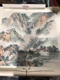著名老画家 陶一清作品 原装原裱 68x68厘米
