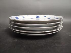 1706  来自法国巴黎的盘子,原盒,一组5只,直径24厘米,十分精美的餐具套装,