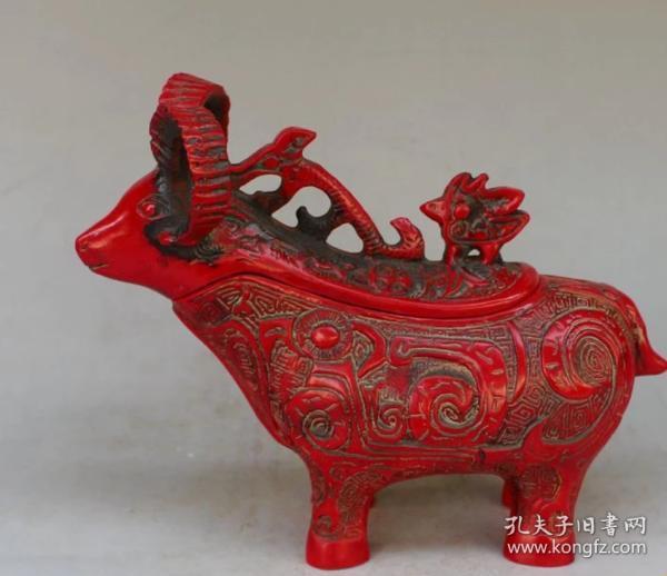 樹脂 精雕生肖羊水壺 茶壺