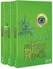 预售德国版指环王三册平装 Der Herr der Ringe: Gesamtausgabe (German) Paperback