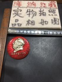 毛主席像章(祖国山河一片红)