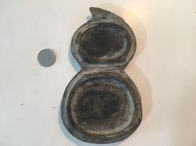 莱芜三叶虫化石砚台底座-缺盖-底座无三叶虫
