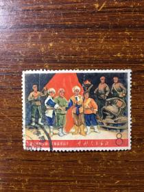 文5智取威虎山邮票文5样板戏邮票文5革命文艺邮票盖销邮票信销邮票文革邮票4 基本无薄裂,有折导致严重的色裂和露白