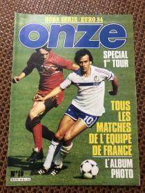 原版足球画册 onze 1984欧洲杯小组赛特辑
