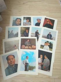 毛主席彩色图片21张(两个版本的)