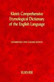 Kleins Comprehensive Etymological Dictionary Of The English Language