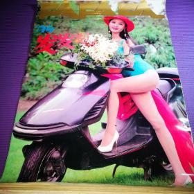 1994年美女挂历 发发发 美女摩托车  (塑膜13张全)