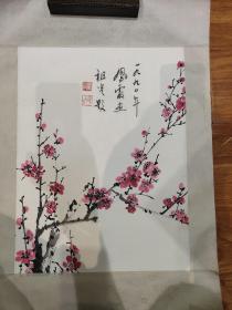 新风霞画梅花吴祖光题作品一幅