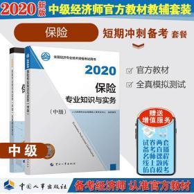 正版2020中级经济师考试官方教材+全真模拟测试-保险专业知识与实务(中级)共2册