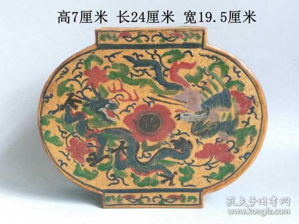 鄉下收的清代乾隆御制老漆龍鳳首飾盒